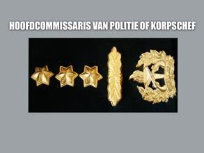 HOOFD COMMISSARIS VAN POLITIE OF KORPSCHEF new