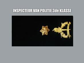 INSPECTEUR VAN POLITIE 3E KLASSE
